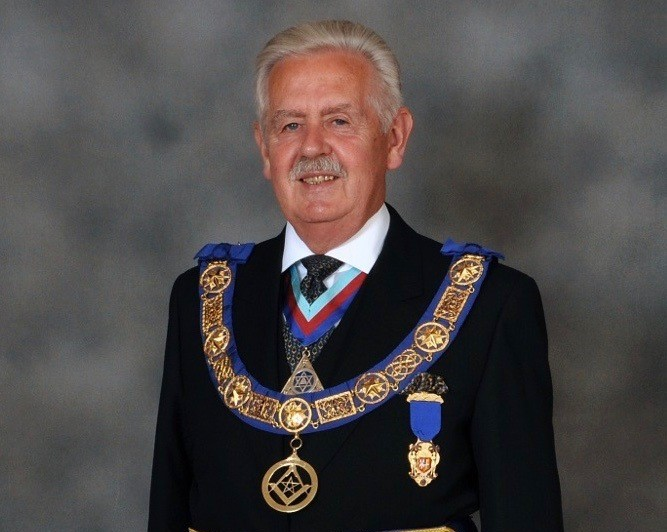 Photo of the Provincial Grand Master of East Kent, Neil Hamilton Johnstone.