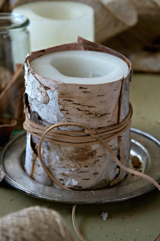 Birch Bark Candle CG 3