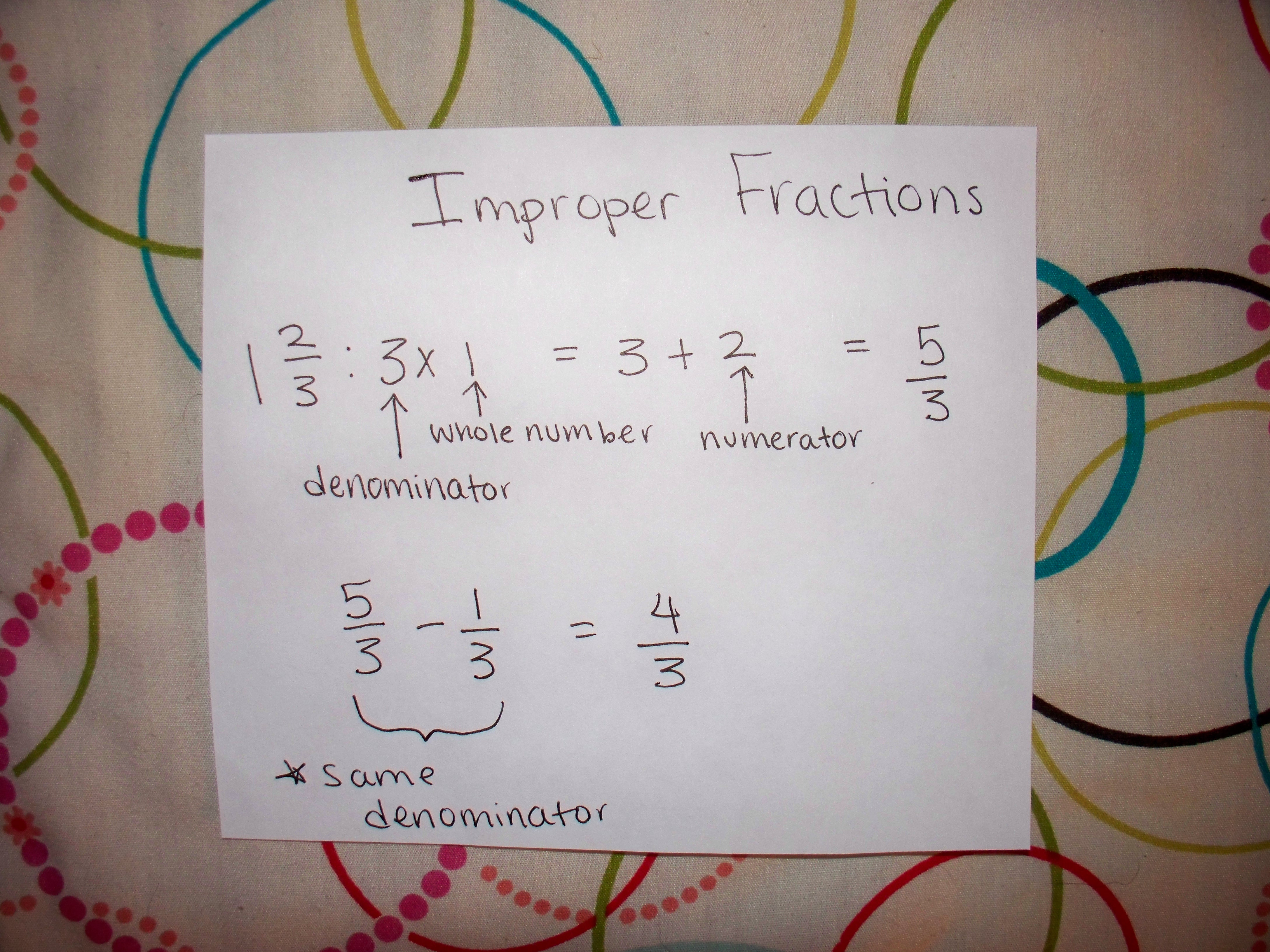 Digging Deeper Into Fractions