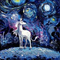 SagitariousGallery: Last Unicorn Painting