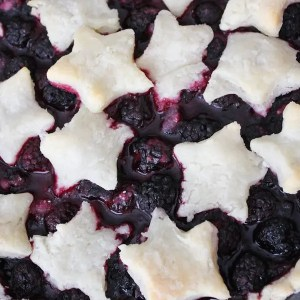 Blackberry Pie – Gluten Free, Eggless
