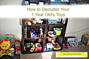 Declutter toys for 1 year olds