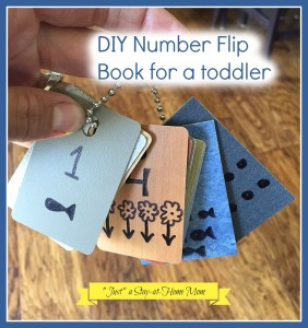 diy number flip book