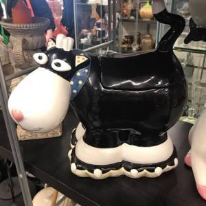 Black Cow Cookie Jar