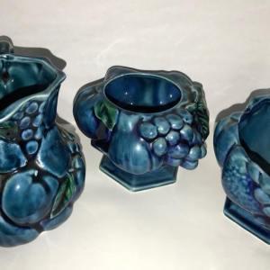 Blue Sugar Bowl & Pitcher Set
