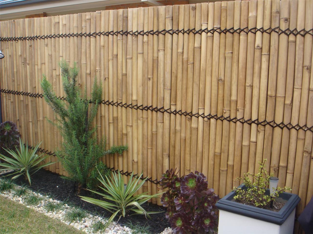 Diy Bamboo Garden Fence Garden Design Ideas