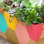 Painted Wooden Planter Boxes Garden Design Ideas