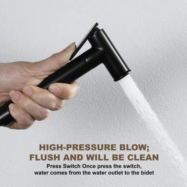 High Pressure Blow Matte Black Bidet Spray
