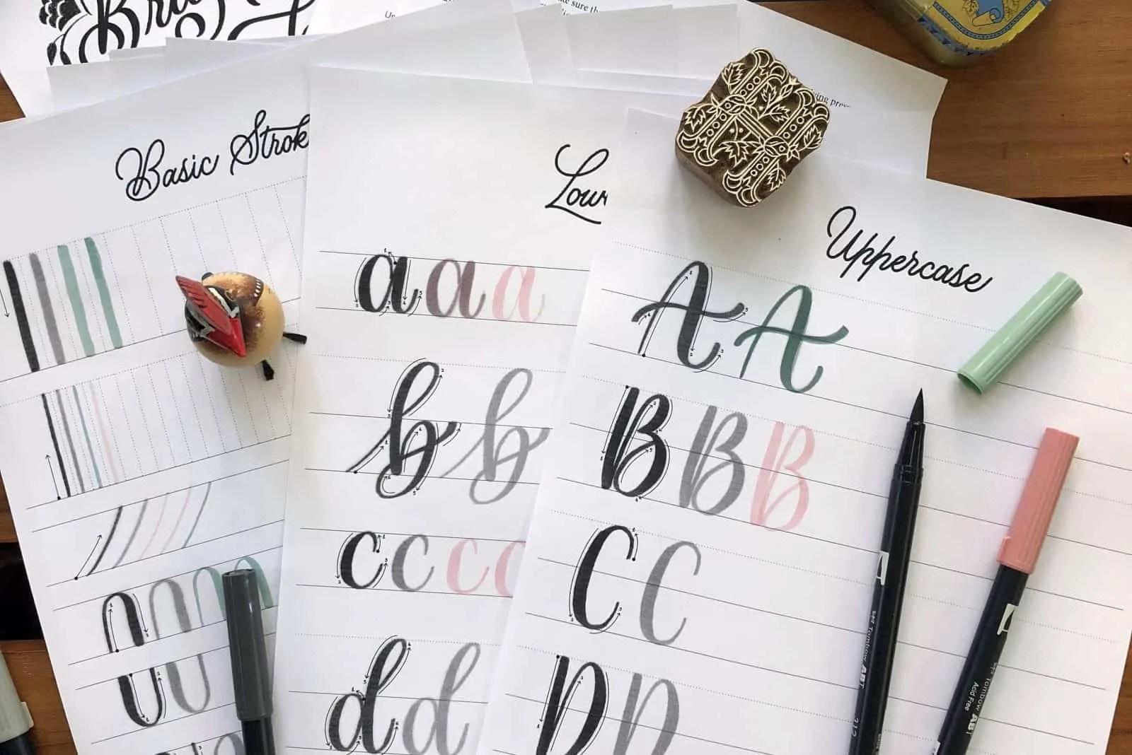 Bullet Journal Lettering Worksheet Make Your Journal Look