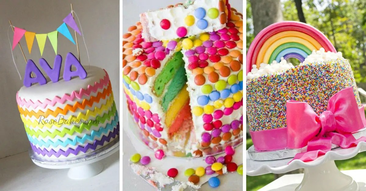 14 Totally Magical Rainbow Birthday Cakes For Girls Just