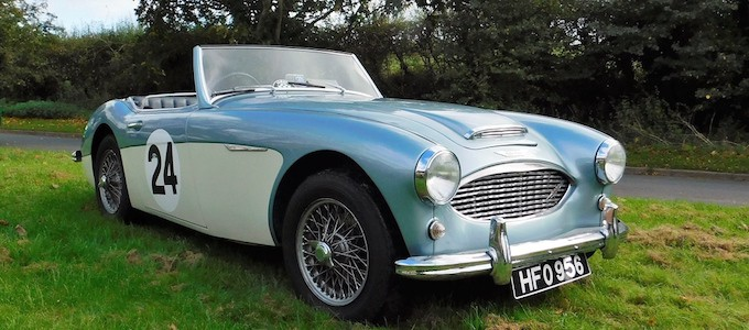 Warwickshire CCA to Auction 160 Classic Cars   Just British Classic car auction for 1959 Austin Healey 3000 MK1 BT7 2 2