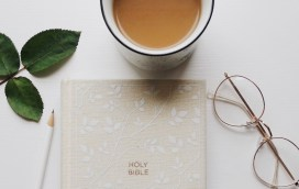 Bible and coffee