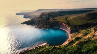 beautiful landscape of ocean and cliffs