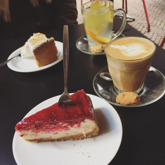 Lemon Meringue & Strawberry Swirl Cheesecake