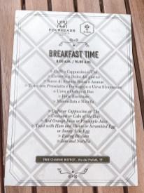 breakfast cart ontbijt kaart fourheads private suites