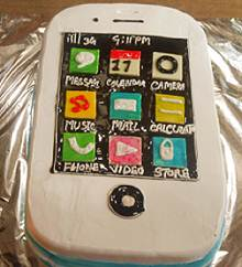 iPhone Shape Cake