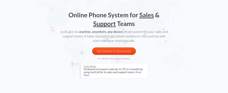 Justcall Cloud phone system