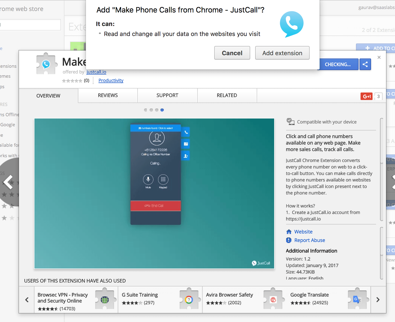 How to make sales calls directly from Google Chrome browser?