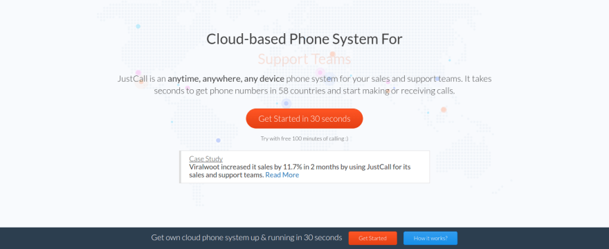 Justcall VoIP business phone system
