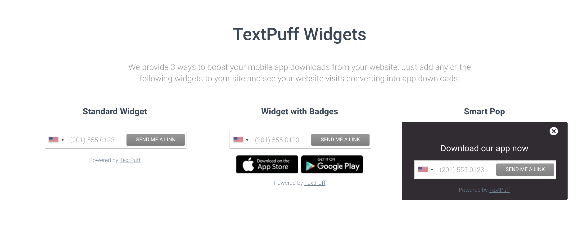 Use TextPuff to increase your app downloads organically