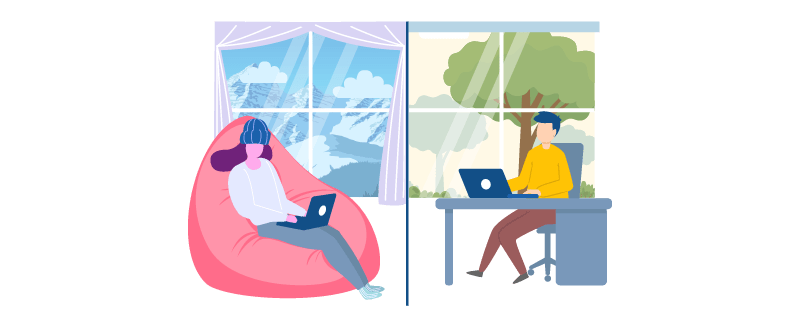 Working remotely or working from home?