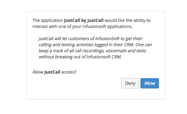 make calls from Infusionsoft