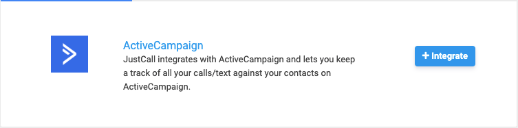 activecampaign integration in JustCall