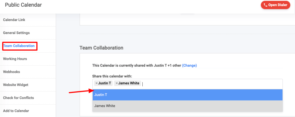 Appointment scheduler - Team collaboration