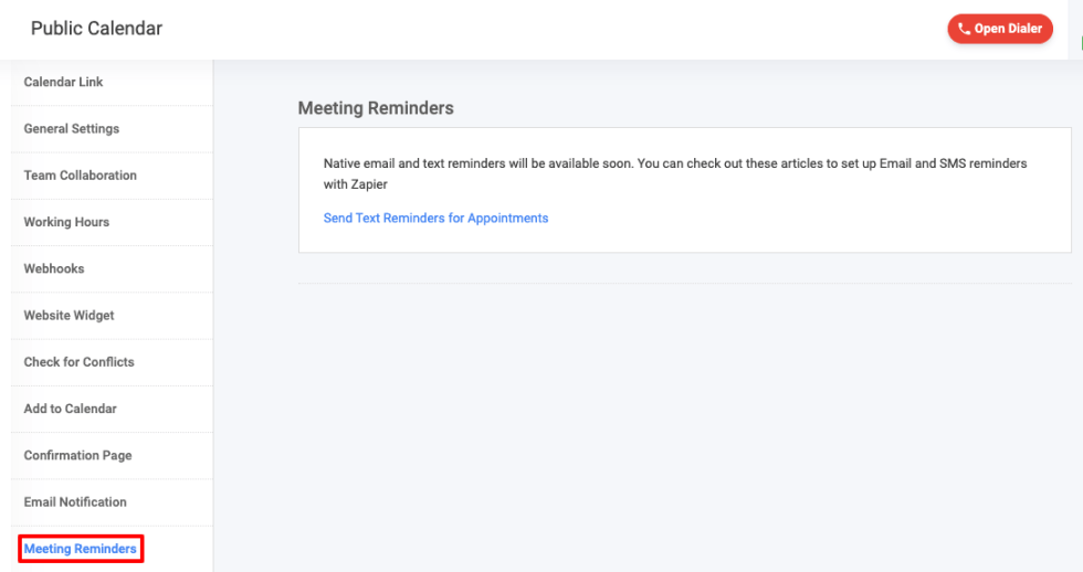 appointment scheduler - meeting reminders