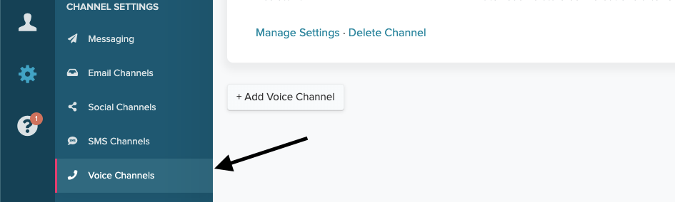 settings for re:amaze voice channels