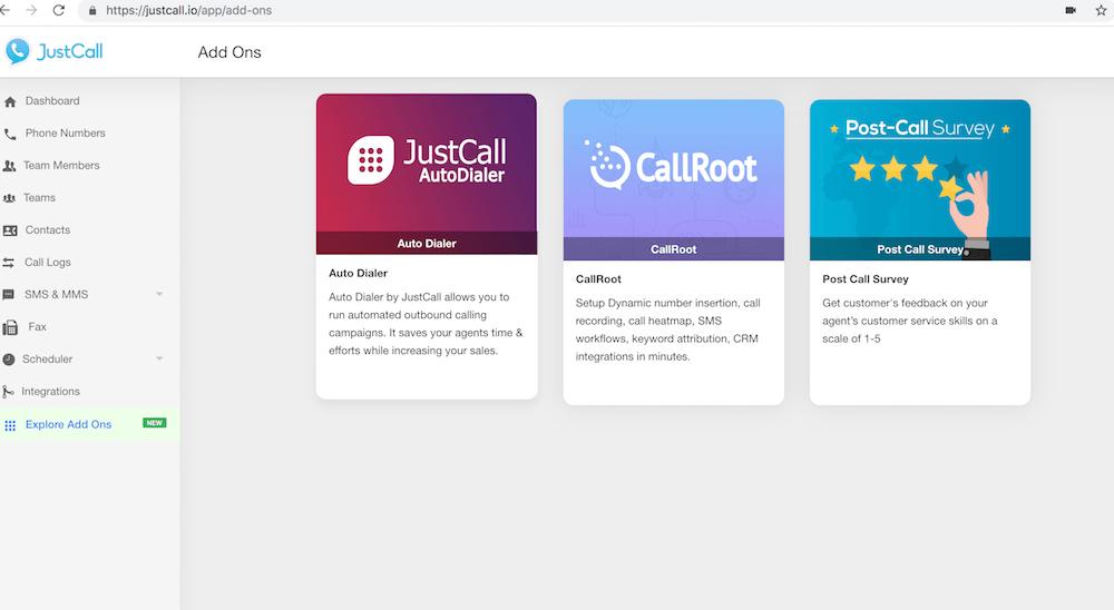 JustCall Cloud Phone System Platform