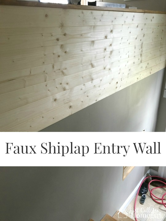 Faux Shiplap Entry Just Call Me Homegirl