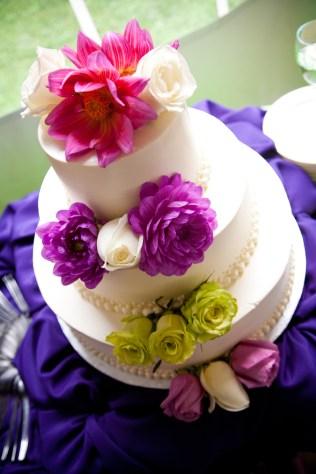 wedding cake - angle