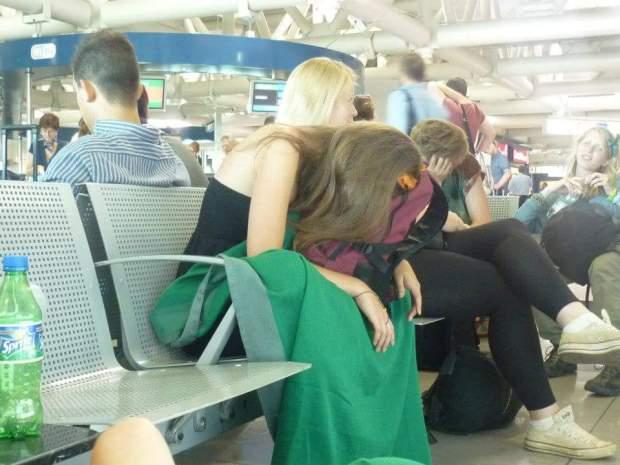 Long haul flight airport sleep