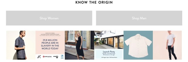 know the origin ethical fashion uk