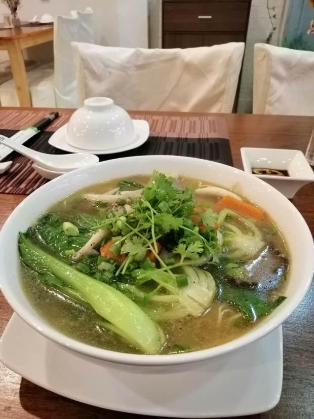 mushroom noodle soup ho chi minh city
