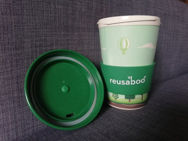 Reusaboo cup and lid reusable coffee cup