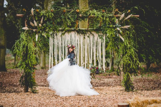 outdoor festival wedding photoshoot tabby farrar bridal