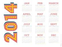 2014 RS Shadow Numbers Calendar