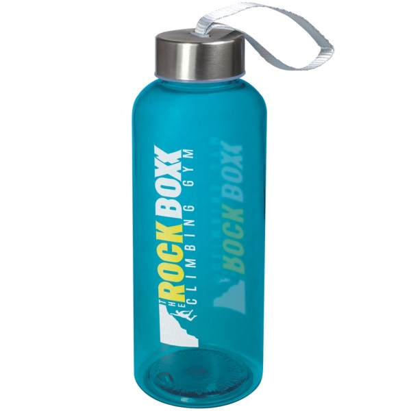 Quench water bottle blue