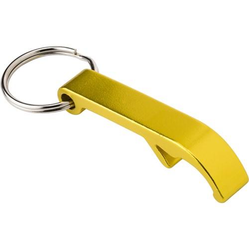 bottle opener keyring yellow