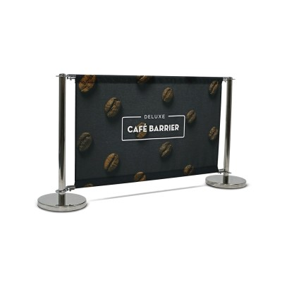 custom printed cafe-barrier_deluxe