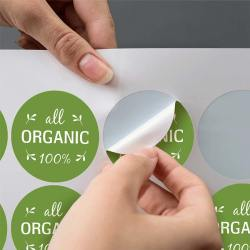 Stickers on a sheet round