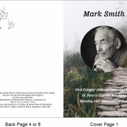 order of service template Walking path Theme