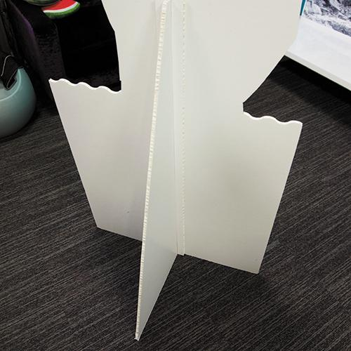 Cut out shapes stand