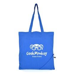 promotional COTTON FOLDABLE SHOPPER BAG