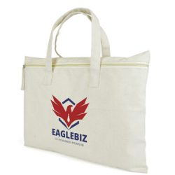 promotional Cavnas zip bag