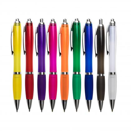 Curvy colour ballpen Colour options