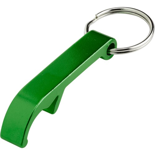 bottle opener keyring green