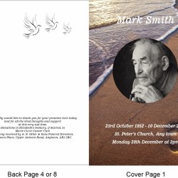 order of service template Footprints Theme